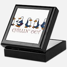 Chillin Out Penguins Keepsake Box