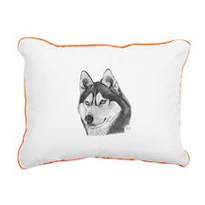Siberian Husky Rectangular Canvas Pillow