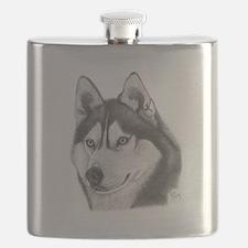 Siberian Husky Flask