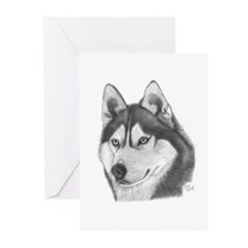 Siberian Husky Greeting Cards (Pk of 20)