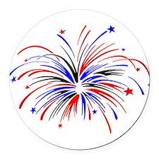 Fireworks Round Car Magnet