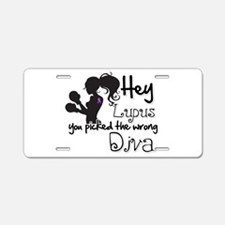 Lupus Picked Wrong Diva Aluminum License Plate