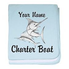 Custom Charter Boat baby blanket