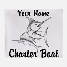 Custom Charter Boat Throw Blanket