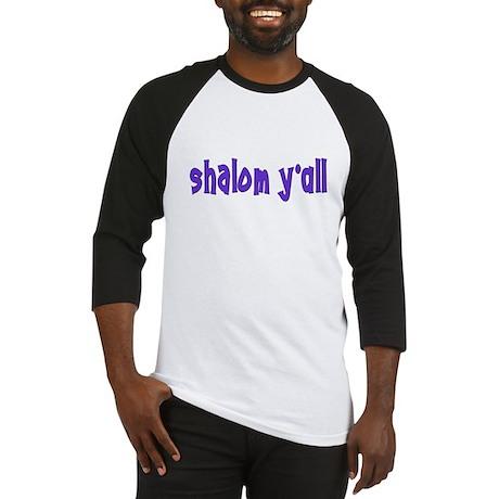Jewish shalom y'all Baseball Jersey