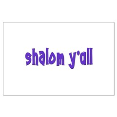 Jewish shalom y'all Posters