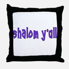 Jewish shalom y'all Throw Pillow