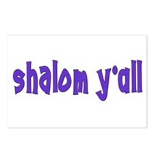 Jewish shalom y'all Postcards (Package of 8)