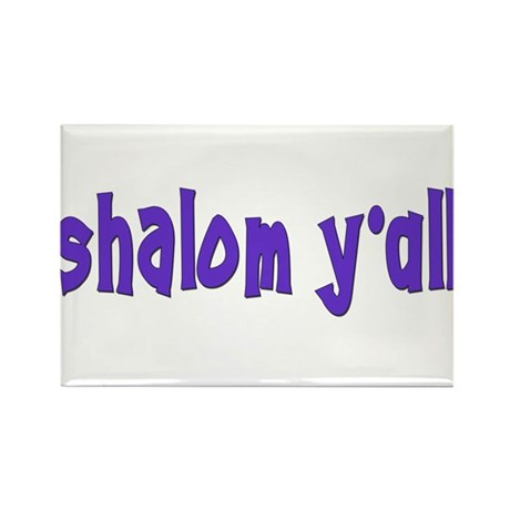 Jewish shalom y'all Rectangle Magnet
