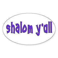 Jewish shalom y'all Oval Decal