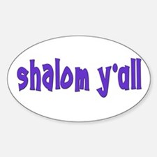 Jewish shalom y'all Oval Decal