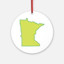 Minnesota Symbol Ornament (Round)