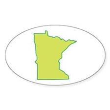 Minnesota Symbol Oval Decal