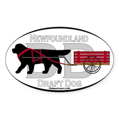 Draft Dog (DD) Oval Sticker