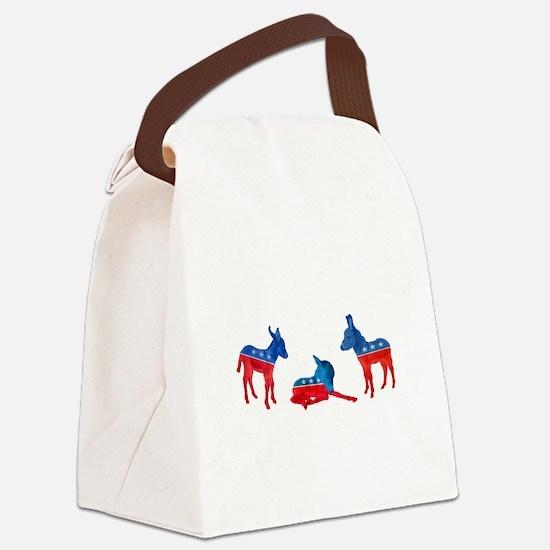 Dem Donkeys Canvas Lunch Bag