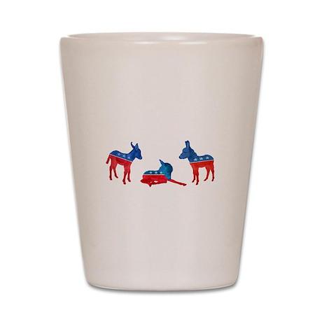 Dem Donkeys Shot Glass