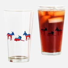 Dem Donkeys Drinking Glass