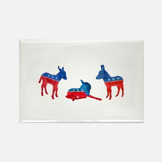 Dem Donkeys Rectangle Magnet