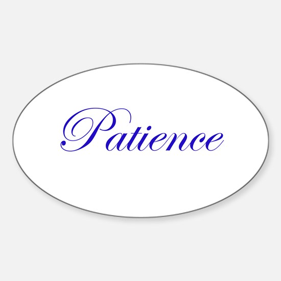 Patience Oval Decal