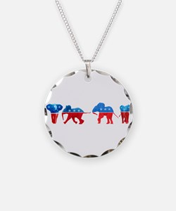 Republican Elephants Necklace