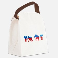 Republican Elephants Canvas Lunch Bag
