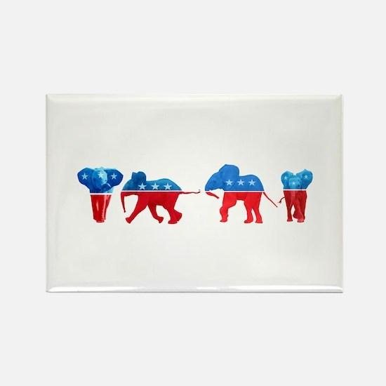 Republican Elephants Rectangle Magnet
