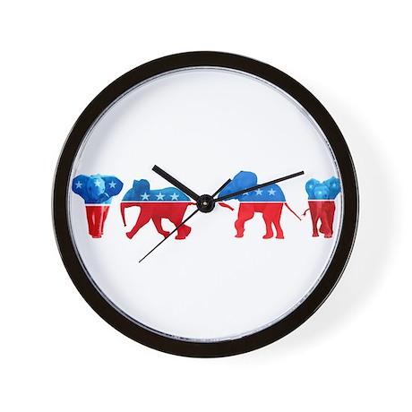 Republican Elephants Wall Clock