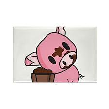 Messy Piggy Rectangle Magnet