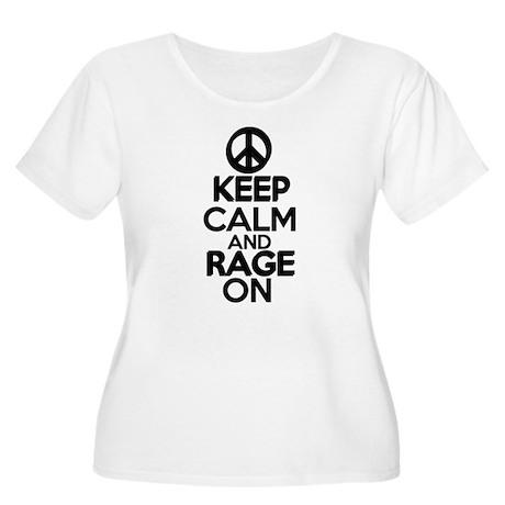 keep calm rage on Women's Plus Size Scoop Neck T-S