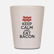 keep-calm-bacon-funny-eat Shot Glass