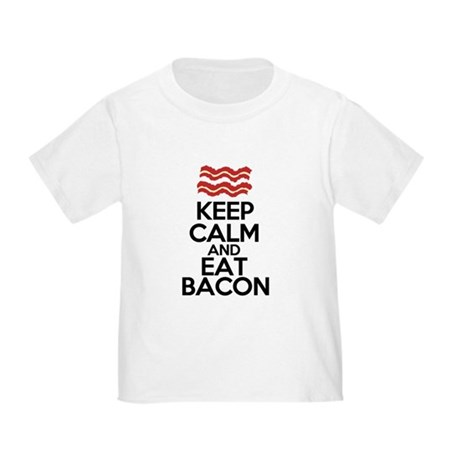 keep-calm-bacon-funny-eat Toddler T-Shirt