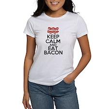 keep-calm-bacon-funny-eat Tee