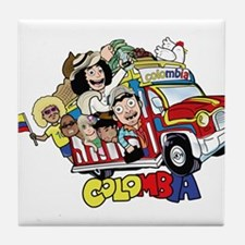 Colombian Chiva Tile Coaster
