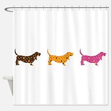 Samba Bassets Shower Curtain