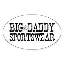 BIG DADDY FOOTBALL Oval Decal