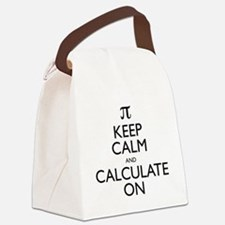 Keep Calm and Calculate On Canvas Lunch Bag
