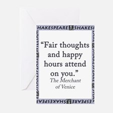 Fair Thoughts and Happy Hours Greeting Cards (Pk o
