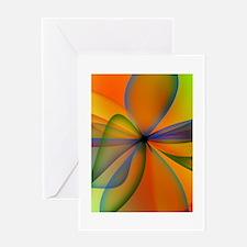 Orange Swirl Flower Greeting Card