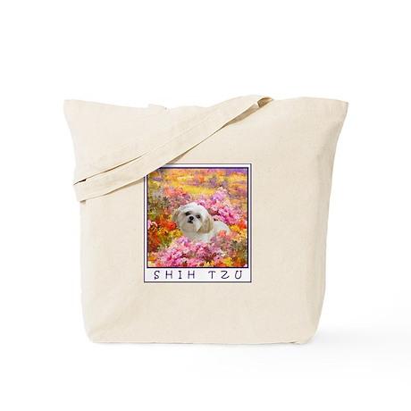 Shih Tzu Fine Art Lily Tote Bag