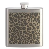 Cheetah print Flask Bottles