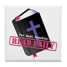 Read Bible Daily Tile Coaster