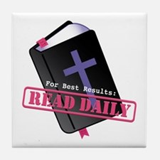 Read Bible Daily Tile Coaster