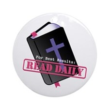 Read Bible Daily Ornament (Round)
