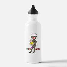 PICU Nurse Sock monkey.PNG Water Bottle