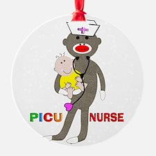 PICU Nurse Sock monkey.PNG Ornament