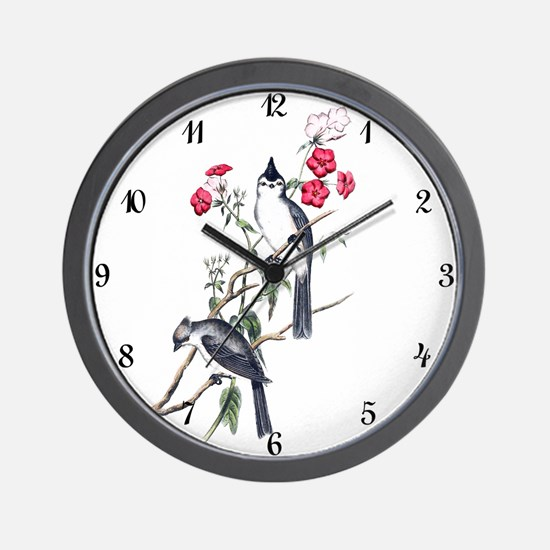 BLACK-CRESTED TITMOUSE Wall Clock