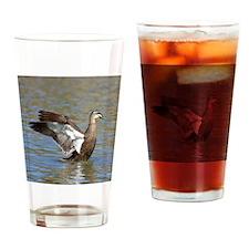 Duck stretch Drinking Glass