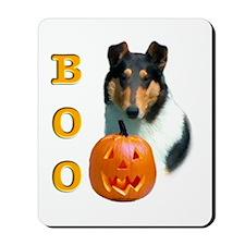 Halloween Smooth Collie Boo Mousepad