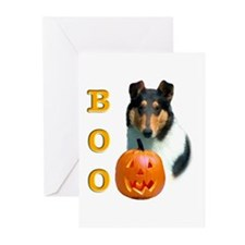 Halloween Smooth Collie Boo Greeting Cards (Packag