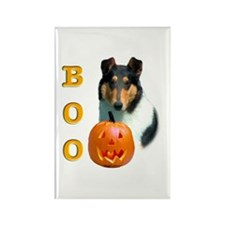Halloween Smooth Collie Boo Rectangle Magnet